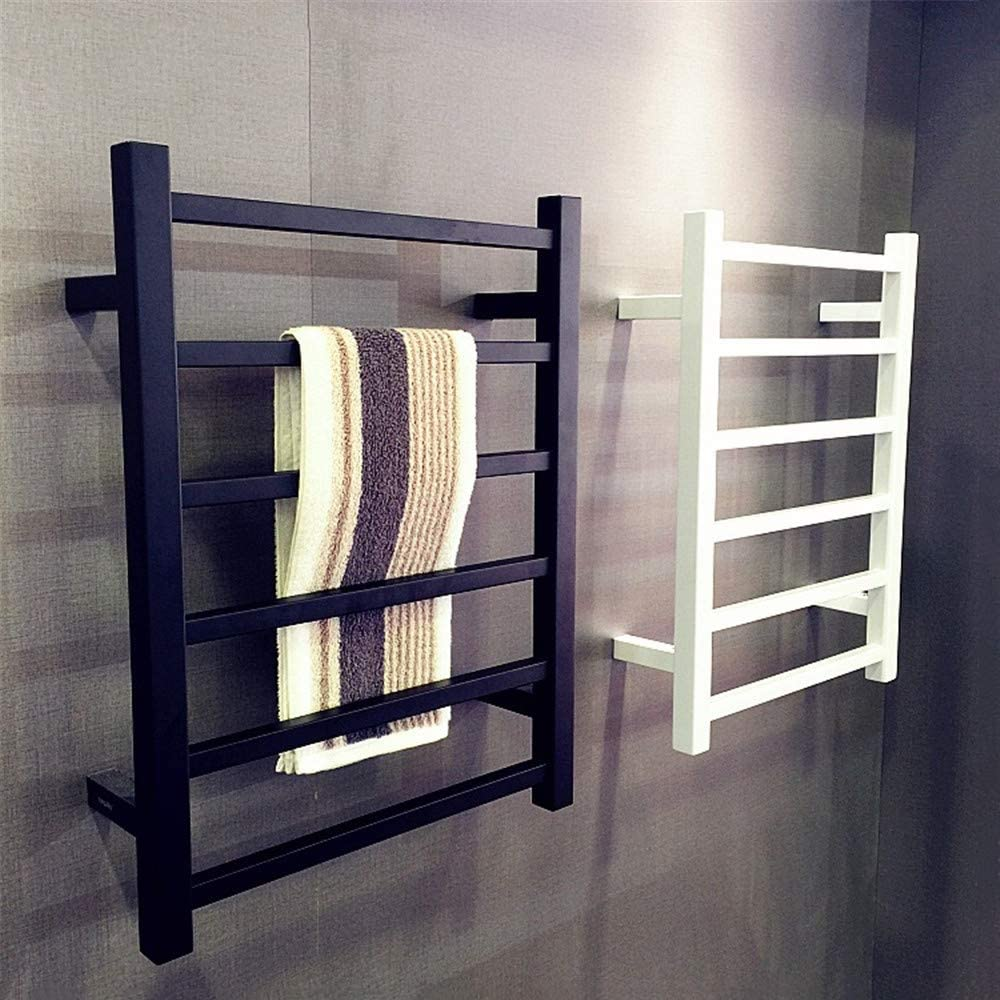 Details About Black Heated Towel Rail